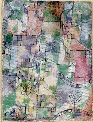 Paul Klee  'A City Street'  1918  Oil on canvas mounted on cardboard   18 x 14 cm