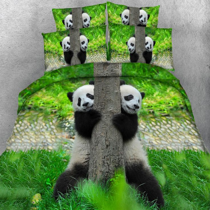 ==> [Free Shipping] Buy Best Free Shipping HD digital 3d print New Panda Bears bedding set double bed linen super king size duvet bedclothes 4 Parts Per Set Online with LOWEST Price | 32817287037