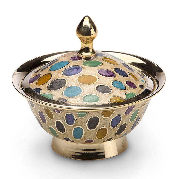 Dotty Design Enamel Brass Box 24.95