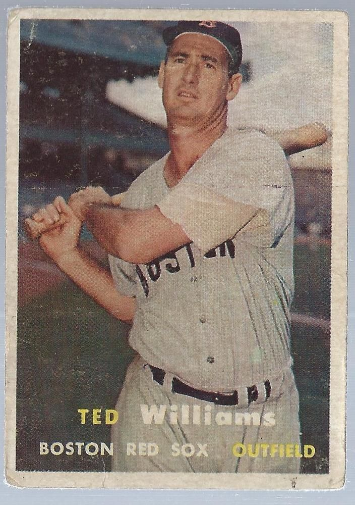1957 Topps Baseball Card Ted Williams Boston Red Sox