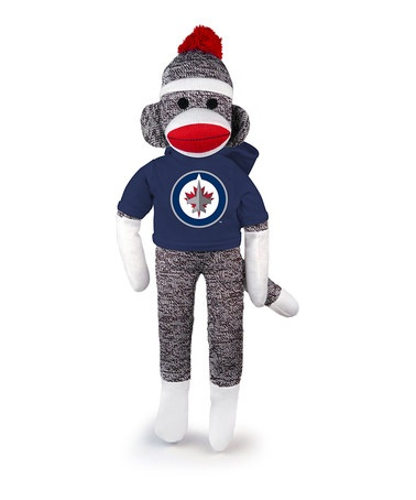 Take a look at this Winnipeg Jets Sock Monkey by Plushland on #zulily today!