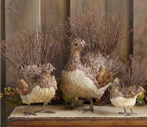 twig decoration ideas   Rustic Twig Turkey Decorations - B. Lovely Events