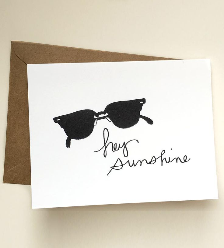 Hey Sunshine Note Cards, 5-Pack by BEtimeless on Scoutmob
