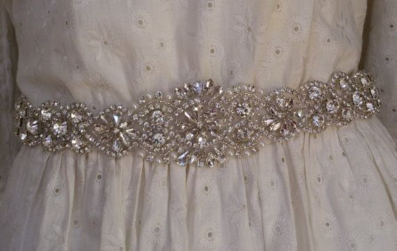 Wedding sash belt Wedding accessories Bridal by UniqueCeremony