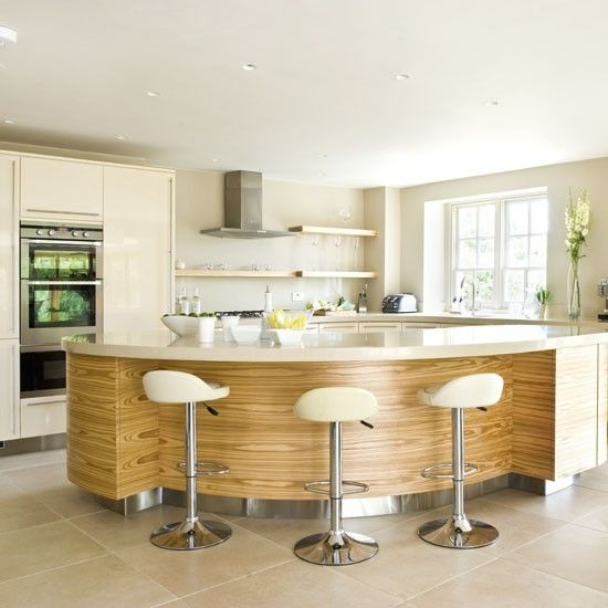 Classy Spacious Cream Kitchen With Matching Breakfast Bar Stools. Sofia Bar  Stools Available From Simply
