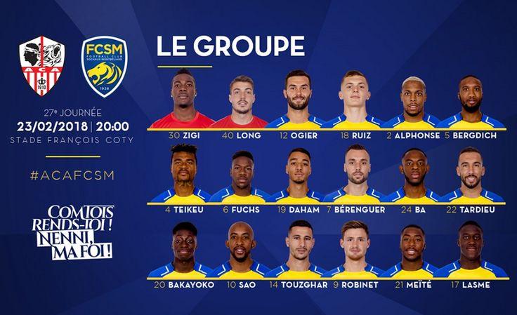 🦁FC Sochaux-Montbéliard🇫🇷  🦁FC SOCHAUX GREEK FANS🇬🇷 AC Ajaccio-FC Sochaux-Montbéliard⚽ Domino's Ligue 2 🏆#WEEK 2️⃣️7️⃣ #LEGROUPE 📣 http://www.fcsochaux.fr/fr/index.php/article/11114
