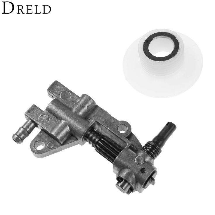 DRELD Drive Chainsaw Oil Pump with Gear Worm Set for Chainsaw 4500 5200 5800 45CC 52CC 58CC Chain Saw Parts Garden Tool Parts #Affiliate