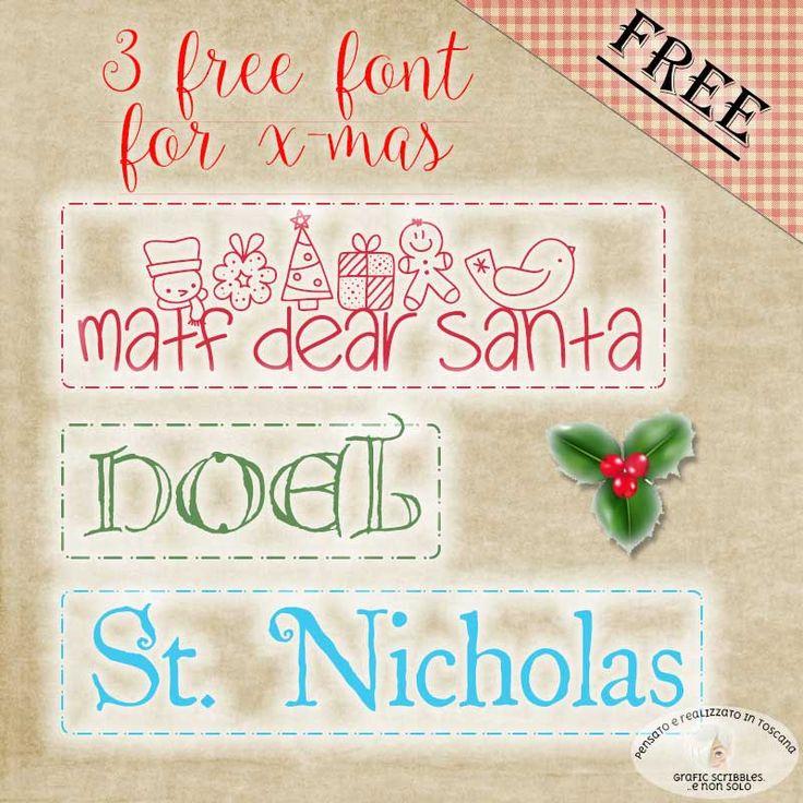 Free X-mas font http://graficscribbles.blogspot.it/2015/12/free-x-mas-font.html #freefont   #christmasgifts