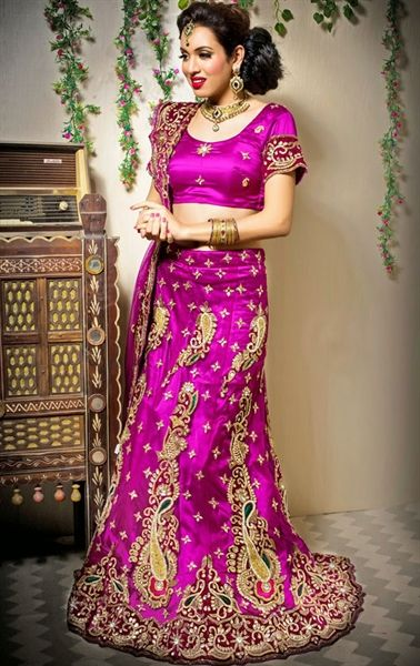 Picture of Exquisite Magenta Color Wedding Lehenga Choli