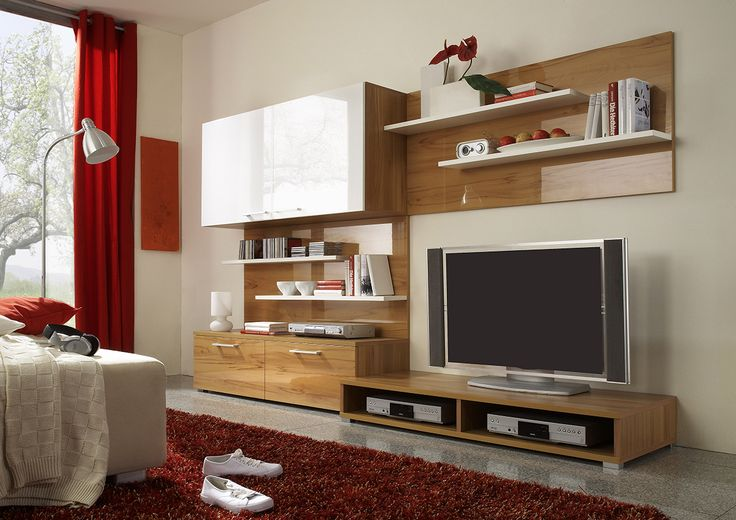 Feel #comfortable at home with #warm tones and white high gloss accents.