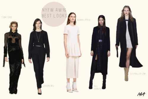 My picks for the 5 best looks from New York Fashion Week aw15TOM FORD, JASON WU, ADAM LIPPES, ALL SAINTS, 3.1 PHILLIP LIM