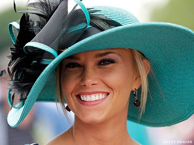 turquoise or teal hat with black for the Kentucky Derby or maybe a Mad Hatter's party