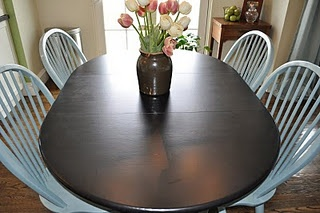Repainted Table and Chairs love this!