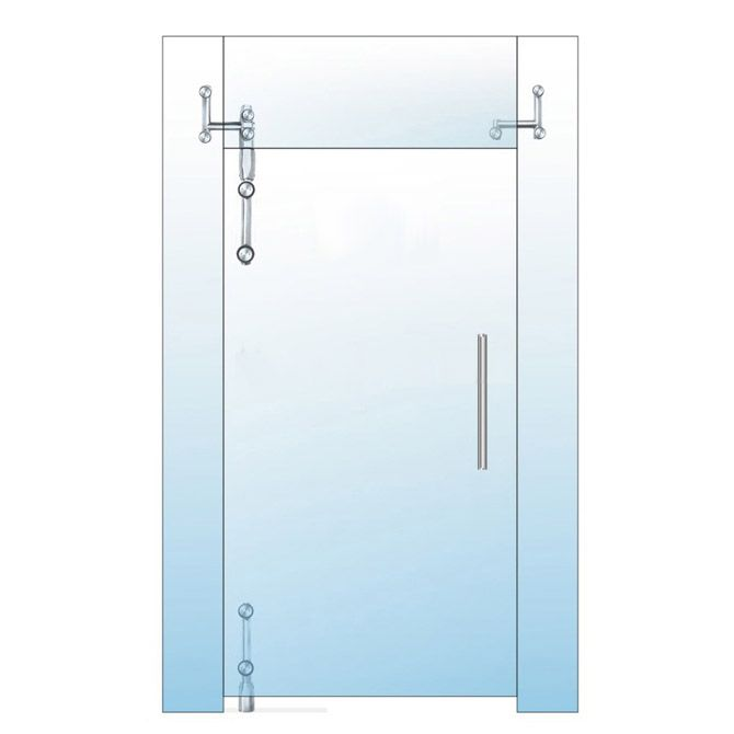 Pivotové kování set pro otočné skleněné dveře PIVOT