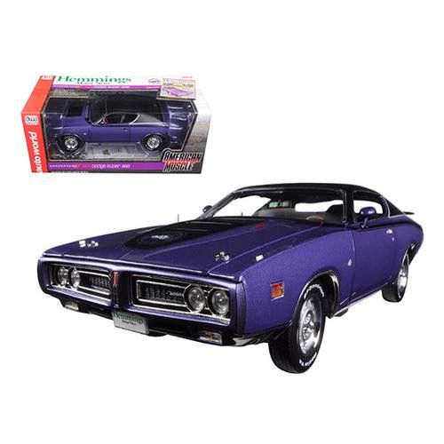 1971 Dodge Charger Super Bee (Hemmings Motor News) Plum Crazy Purple Limited Edition to 1002pc 1/18 Diecast Model Car by Autoworld