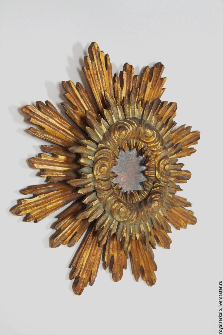Купить Зеркало-солнце Барокко - зеркало солнце, зеркало настенное, интерьерное зеркало, декор для интерьера