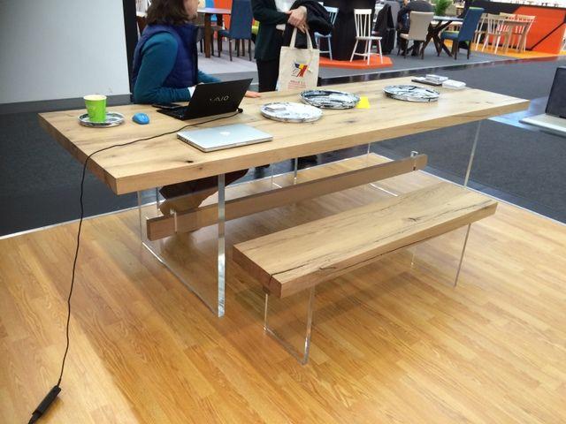 Die besten 17 ideen zu massivholz tischplatte auf for Platzsparender esstisch