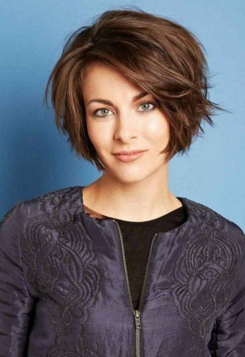 Short Haircuts 2017 For Thick Hair Hairstyles Tips Me In 2018 Pinterest Styles And