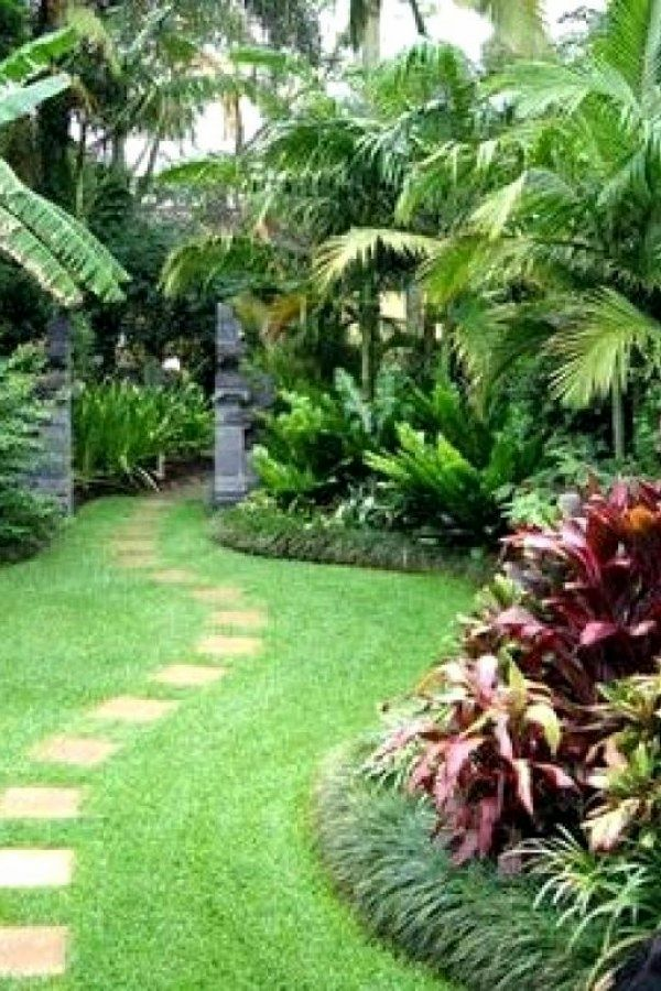 Garden Path Designs Ideas Tropical