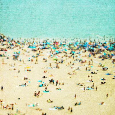 Large beach print