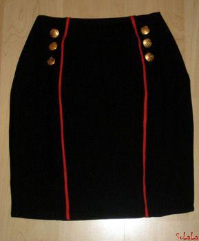 DIY Military style skirt.