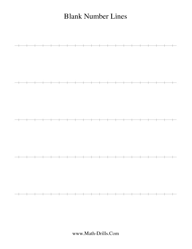 Blank Math Worksheets Free Worksheets Library – Free Math Worksheets Number Lines