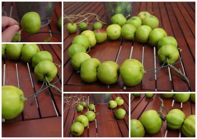 Filz und Garten: Schnelle Apfeldeko
