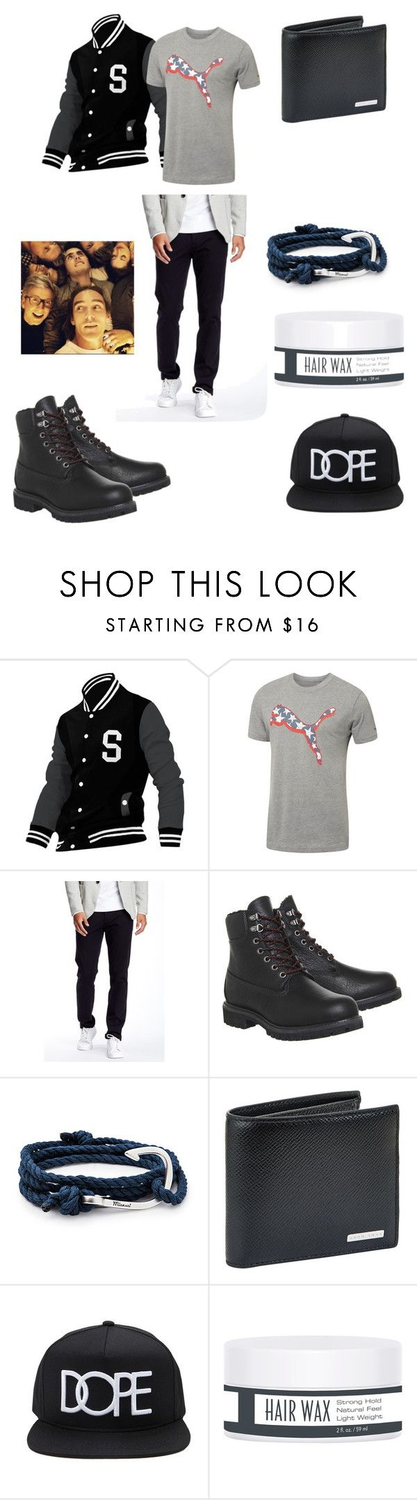 """Marbob  + Nimbob = "" by elliemack19 ❤ liked on Polyvore featuring Allegra K, Puma, Good Man Brand, Timberland, MIANSAI, BOSS Hugo Boss, Forever 21, men's fashion and menswear"