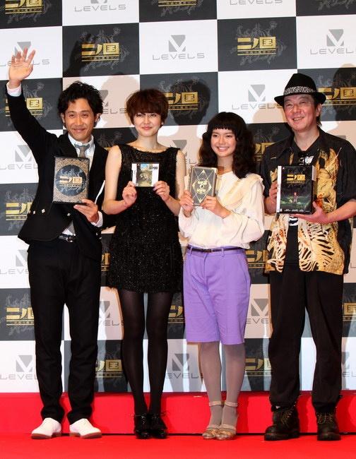 大泉洋、長澤まさみ、多部未華子、古田新太(左から)