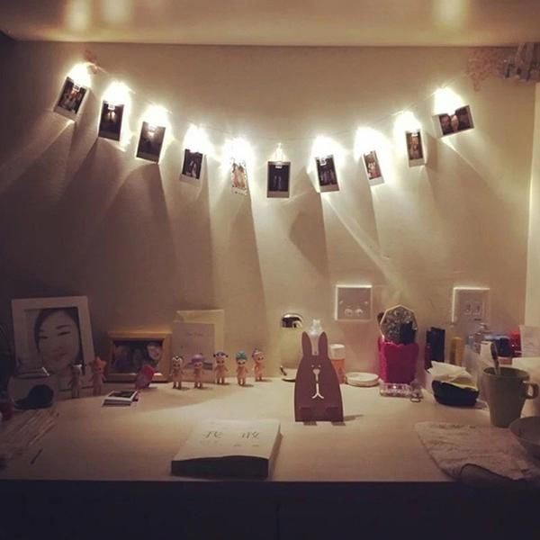 1 2m 10 Led Card Photo Clip Lights Luces Led De Colores Luces Festivas Guirnalda De Luces