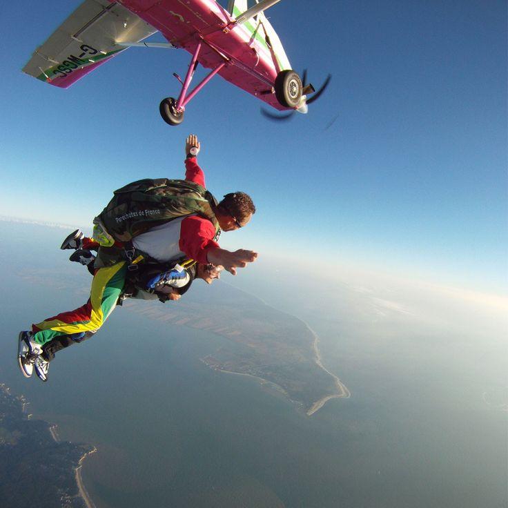 Saut en parachute près de Paris