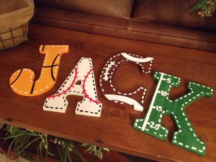 Sports+Fan+Large+Wooden+Letters+Customized+by+MelanieLupien,+$10.00