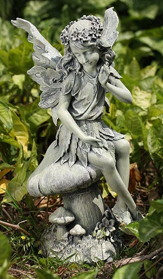 Avriel - Seated Fairy On Mushrooms       Ships Separately  http://www.efairies.com/store/pc/Avriel-Seated-Fairy-On-Mushrooms--Ships-Separately-52p3260.htm  $64.95