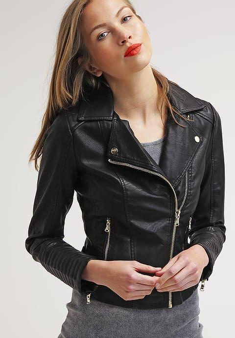 Miss Selfridge ELSY - Kurtka ze skóry ekologicznej - black za 174,85 zł (