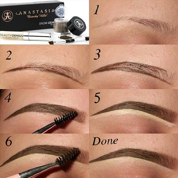 So summer and water are my eyebrows enemy! LOL...SOLUTION: @anastasiabeverlyhills Brow Genius Kit!! Perfect for me for swimming, gym, or outside activities ;) Step1. Comb brows and mix products. Step2. Outline bottom of brows. Step3. Outline top of brows. Step4. Fill in brows and brush out product with spooly. Step5. Clean up bottom of brows with concealer. Step6. Blend down the concealer & Brush out extra product from the front of the brows for a gradient affect and your done! :)