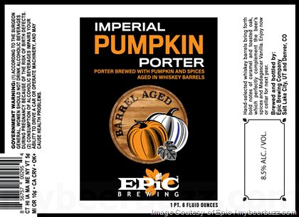 mybeerbuzz.com - Bringing Good Beers & Good People Together...: Epic Brewing - Barrel-Aged Imperial Pumpkin Porter...