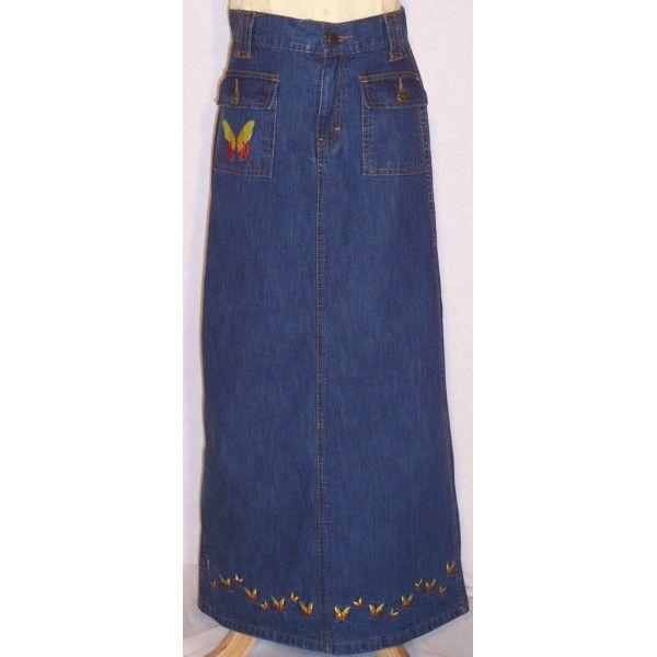 apostolic blue jean skirts fancy denim