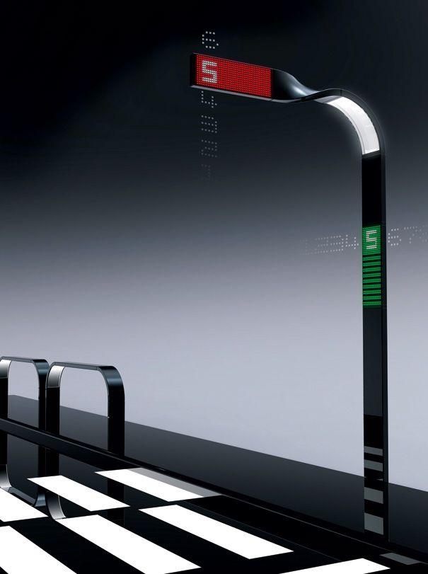 Mobius Strip Lamp - Traffic Light Design by Kisung Lee