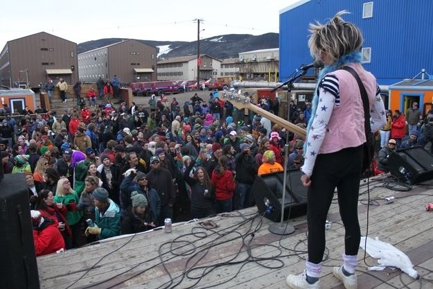 Ice Stock Festival on New Year's Eve at the U.S. base, McMurdo Station, located on Ross Island