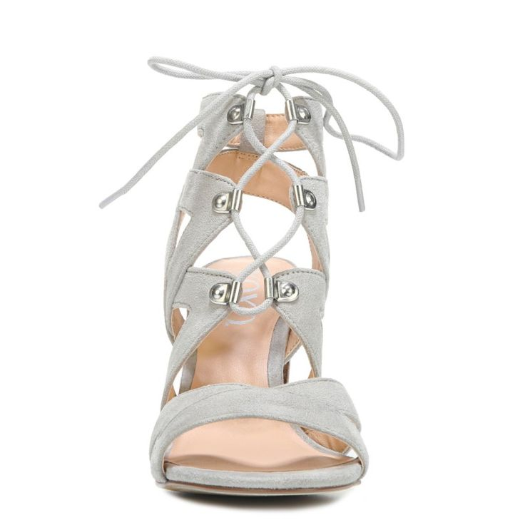 XOXO Women's Barnie Lace Up Sandals (Grey) - 11.0 M