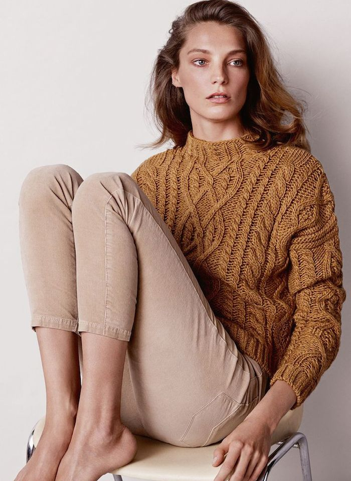 cable knit + cords ~ mango