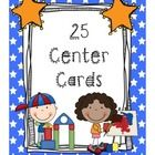 """Included in this pack are 25 center cards.  You can use these cards to label your centers and use them for a """"center sign up.""""  The 25 centers incl..."""