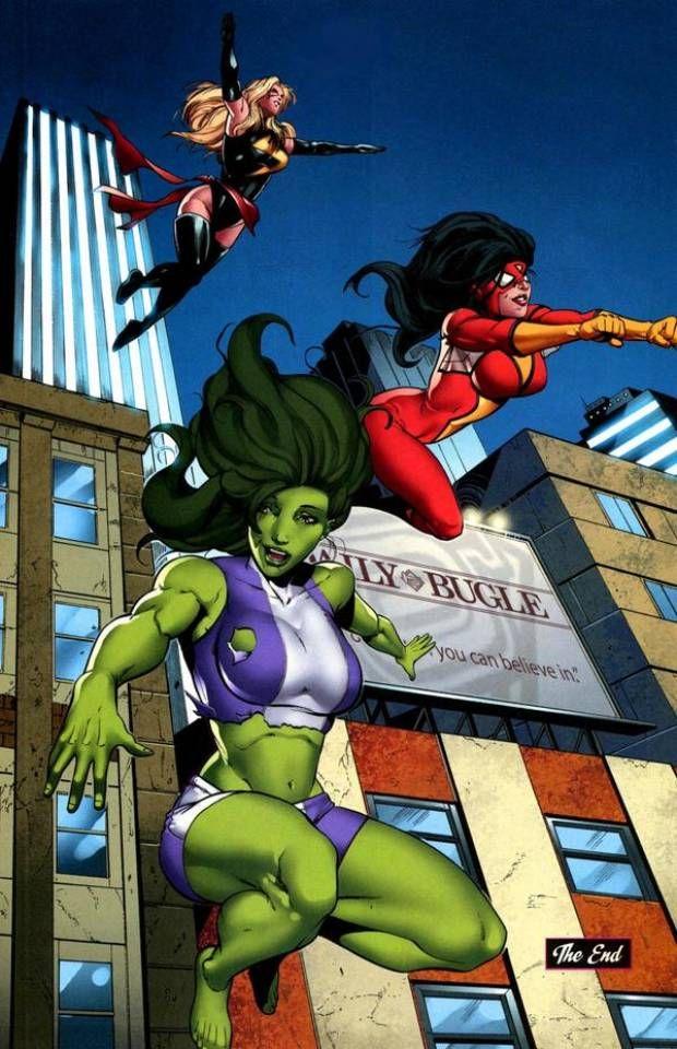 She-Hulk, Spider Woman & Ms. Marvel