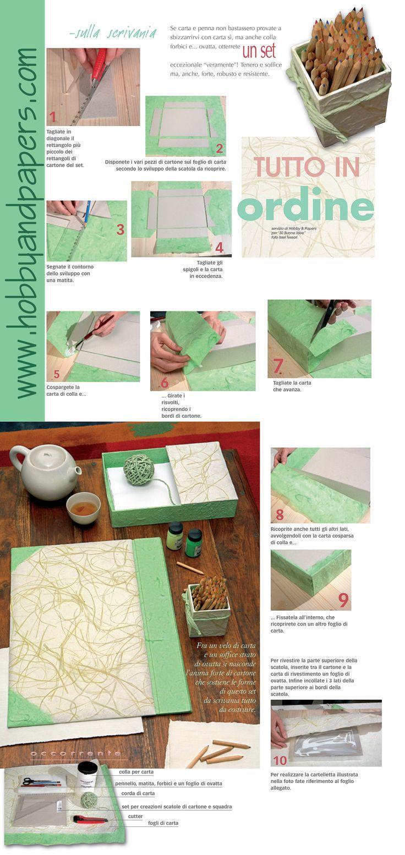 tutto in ordine con il tuo set da scrivania! organize your desk with a writing set! #DIY #paper #handmade #tutorial