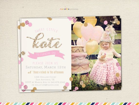 218 best party 1st birthday party ideas images – Pink First Birthday Invitations