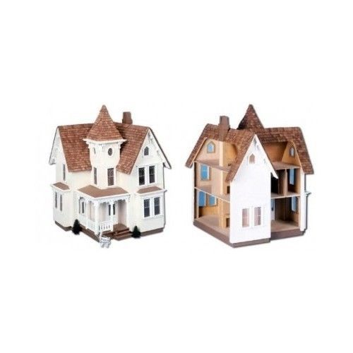Doll House Kit Wood Victorian Style Collectors Children Room Boy Girl Play