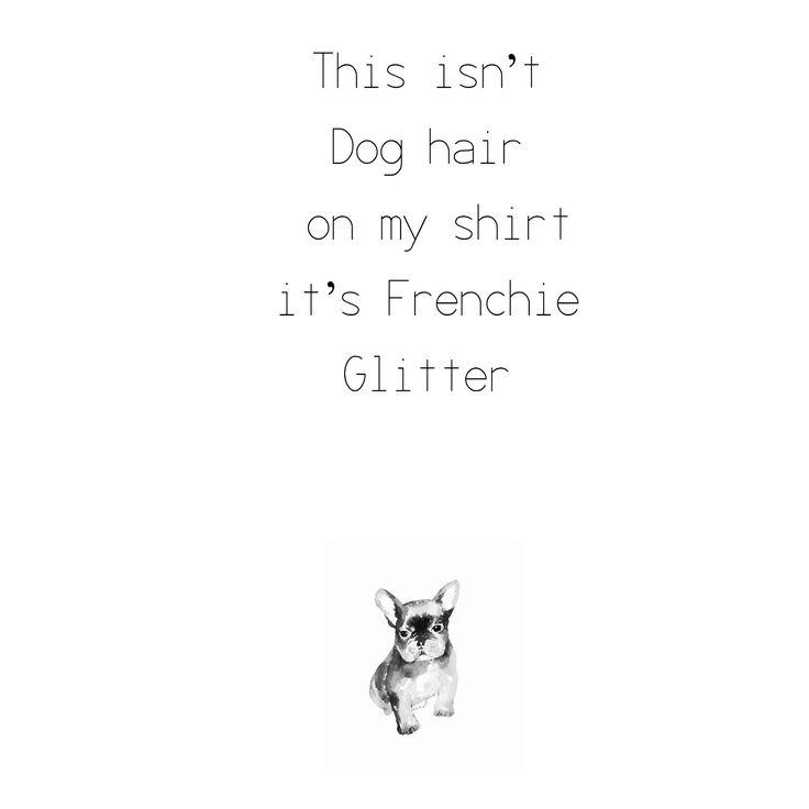 Frenchie Glitter, French Bulldog Glitter✨✨❤