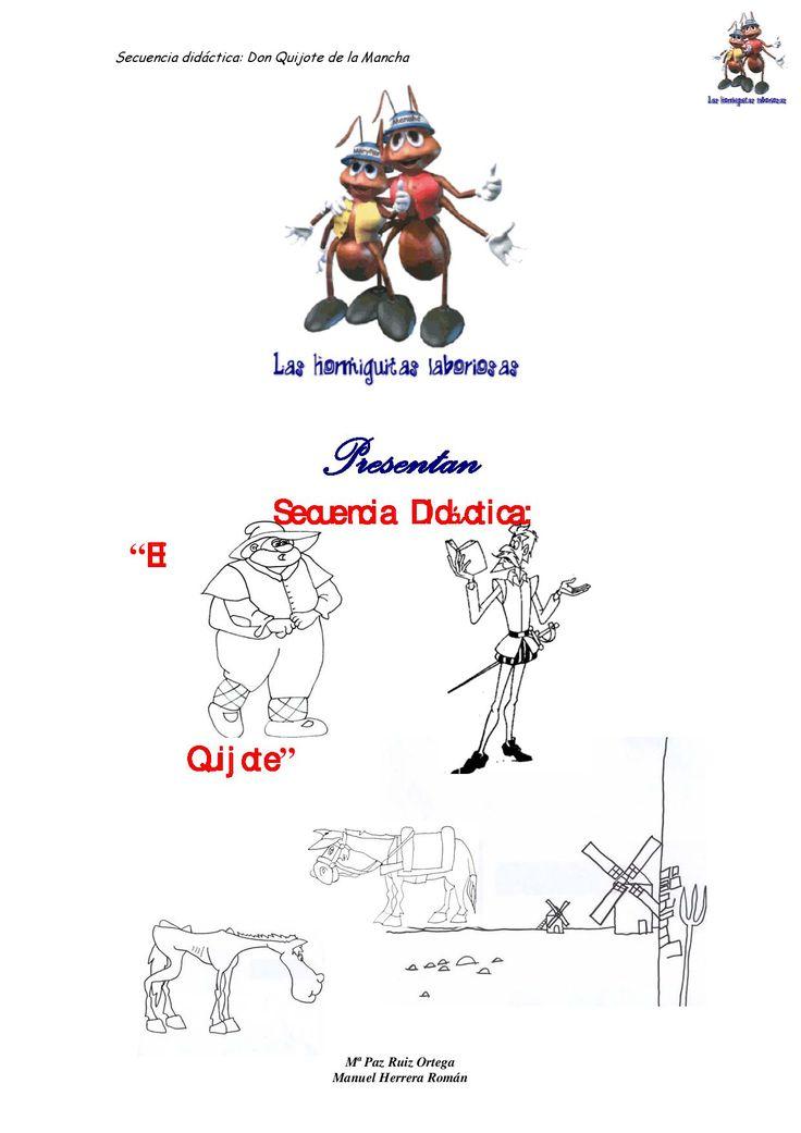 Cuaderno de actividades para trabajar el libro D. Quijote de la Mancha con niños/as de Primaria