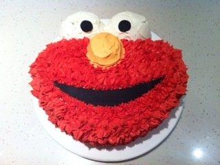 Elmo Buttercream Cake