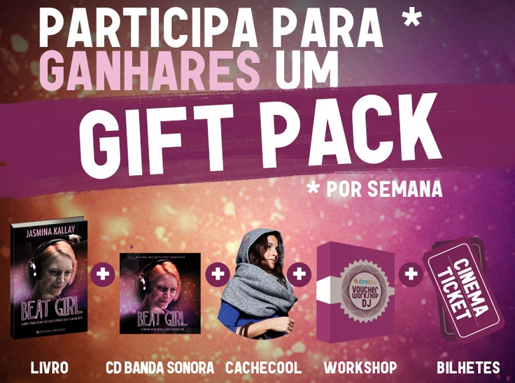 This is for all the #portuguese #fans! You can win a #Beat Girl #gift pack every week! Doesn't this sound great?! :)